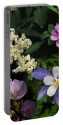 Wildflower Collage Portable Battery Charger