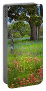 Texas Pastoral Landscape Portable Battery Charger