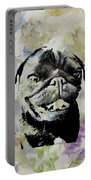 Wildflower Pug Portable Battery Charger