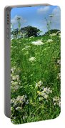 Wildflowers Along Country Road In Mchenry County Portable Battery Charger