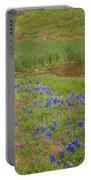 Wildflowers Along The Creek Portable Battery Charger