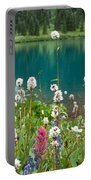 Wildflowers Along The Lake Portable Battery Charger
