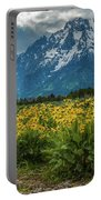 Wildflowers And Mount Moran Portable Battery Charger