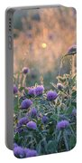 Wildflowers At Sunrise Portable Battery Charger