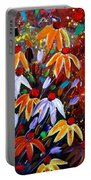 Wildflowers At Sunset Portable Battery Charger