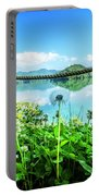Wildflowers At The Lake In Spring Portable Battery Charger