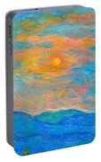 Wildflowers By A Blue Ridge Sunset Portable Battery Charger