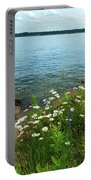 Wildflowers By The Lake  Portable Battery Charger
