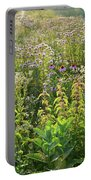 Wildflowers Glow In Setting Sun Light Portable Battery Charger