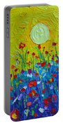 Wildflowers Meadow Sunrise Portable Battery Charger