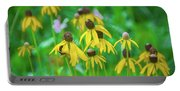 Wildflowers Of Yellow Portable Battery Charger