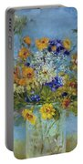 Wildflowers On The Lake Portable Battery Charger