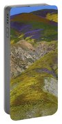Wildflowers Up The Hills Of Temblor Range At Carrizo Plain National Monument Portable Battery Charger