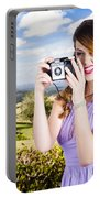 Wildlife Photographer Shooting Insects And Nature Portable Battery Charger