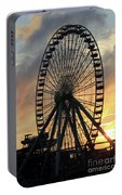 Wildwood Ferris Wheel At Dawn Portable Battery Charger