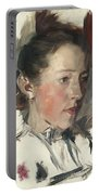 Wilhelm Leibl 1844 - 1900 German Bauernmadchen Farm Girl Portable Battery Charger