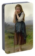 William Bouguereau 1825-1905 French Petite Bergere Portable Battery Charger