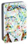 William Faulkner - Watercolor Portrait.4 Portable Battery Charger