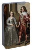 William II, Prince Of Orange, And His Bride, Mary Stuart Portable Battery Charger