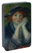 William J. Glackens 1870-1938 1870 - 1938 Portrait Study Of An Artist's Model Portable Battery Charger