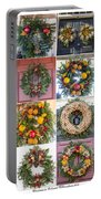 Williamsburg Christmas Collage Squared 3 Portable Battery Charger