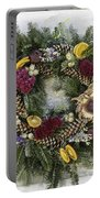 Williamsburg Wreath 10b Portable Battery Charger