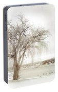 Willow Tree In Winter Portable Battery Charger