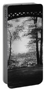 Wilson Pond Framed In Black And White Portable Battery Charger