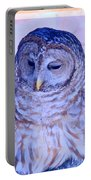 Wind Blown Owl  Portable Battery Charger