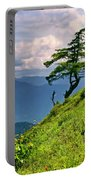 Wind Sculpted Conifer Portable Battery Charger