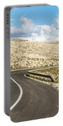 Winding Road On The Pag Island In Croatia Portable Battery Charger