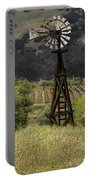 Windmill And Vineyards Portable Battery Charger