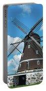 Windmill In Fleninge,sweden Portable Battery Charger