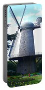 Windmill In Golden Gate Park Portable Battery Charger