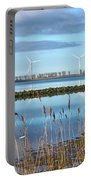 Windmills On A Windless Morning Portable Battery Charger