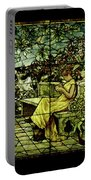 Window - Lady In Garden Portable Battery Charger