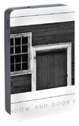 Window And Door Bw Poster Portable Battery Charger