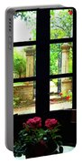 Window And Roses Portable Battery Charger