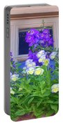 Window Box With Pansies Portable Battery Charger
