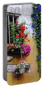 Window Garden In Arles France Portable Battery Charger