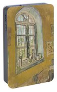 Window In The Studio Saint-remy-de-provence, September - October 1889 Vincent Van Gogh 1853 - 1890 Portable Battery Charger
