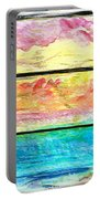 Window Scene Abstract Portable Battery Charger