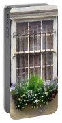 Window Shutters And Flowers II Portable Battery Charger