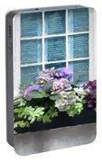 Window Shutters And Flowers Vi Portable Battery Charger