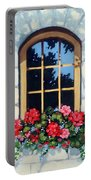 Window With Flower Box Portable Battery Charger
