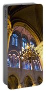 Windows At The Notre Dame Cathedral In Paris Portable Battery Charger by Kim Bemis