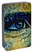 Windows Into The Soul Eye Painting Closeup All Seeing Eye In Blue Pink Red Magenta Yellow Eye Of Go Portable Battery Charger