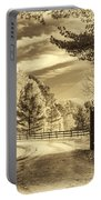 Windstone Farm - Sepia Portable Battery Charger