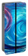 Windswept Blue Wave And Whirlpool 2 Portable Battery Charger