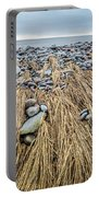 Windswept Grass At Lawrencetown Beach, Nova Scotia Portable Battery Charger